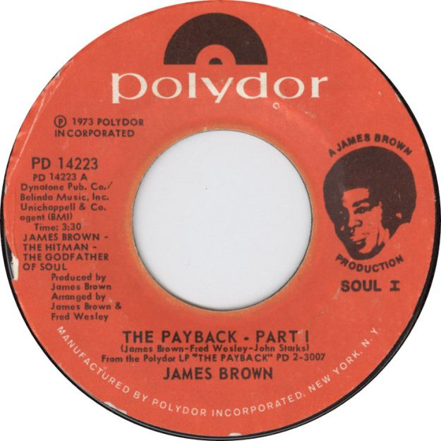 James Brown Payback Label 45 Master