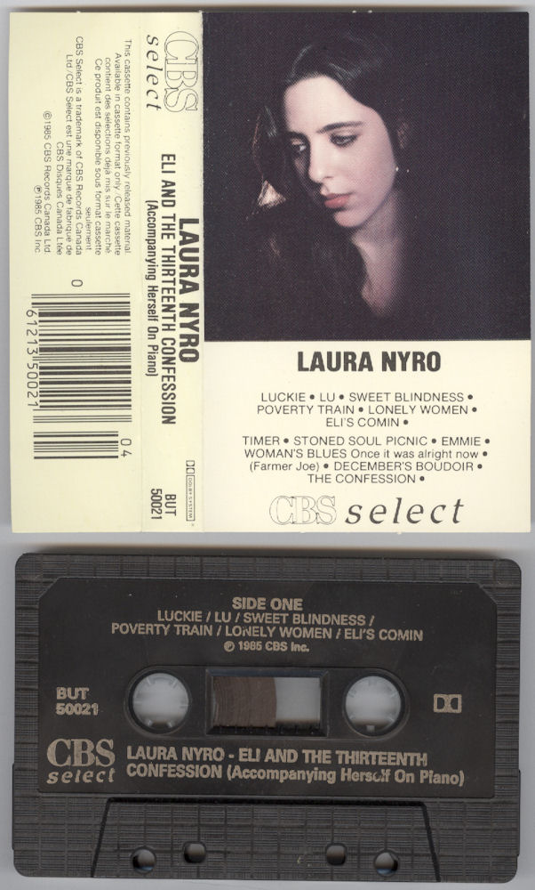 Laura Nyro Eli and the 13th Confession Columbia Canada cassette variousartists