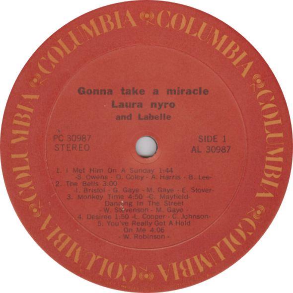 Laura Nyro Gonna Take Label Columbia