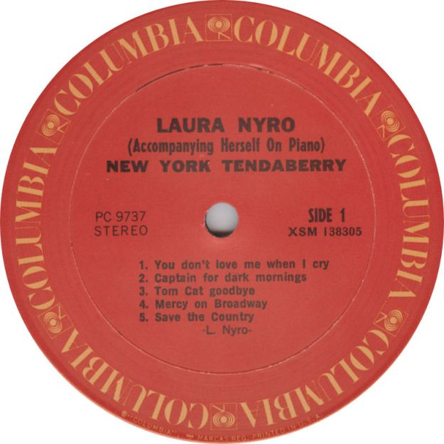 Laura Nyro NewYorkTenda Label Columbia