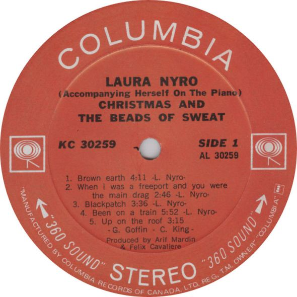 Laura Nyro Christmas and the Beads of Sweat Columbia Label