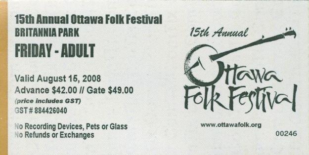 BSS missed gig Ottawa Folk Fest 2008