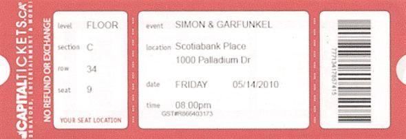 Simon Garfunkel 2010 BLOG