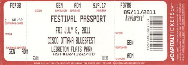 Ticket Fri July 8 2011
