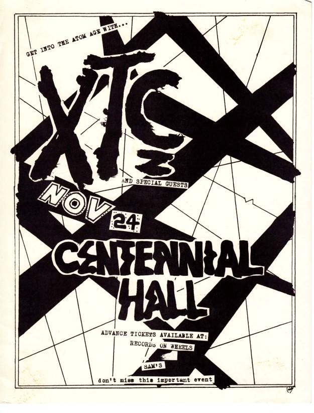 xtc handbill london 1980
