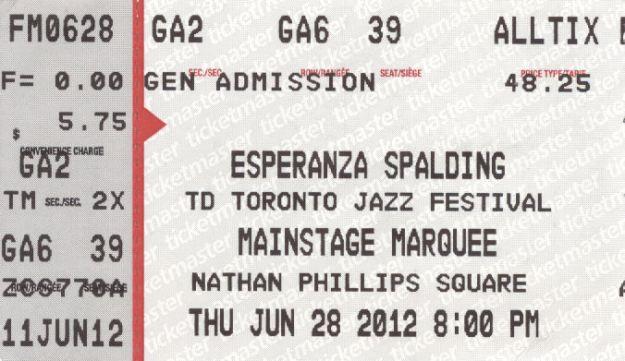 Esperanza Ticket 2012