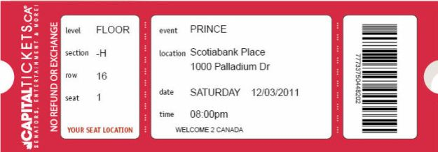 Prince Ticket for blog