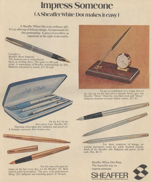 CanMag Dec 69 sheaffer pens BLOG