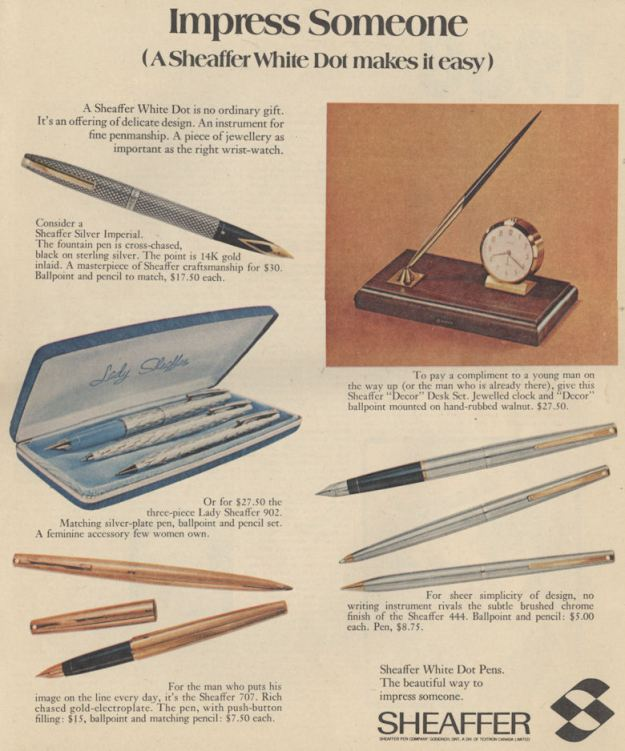 CanMag Dec 69 sheaffer pens BLOG