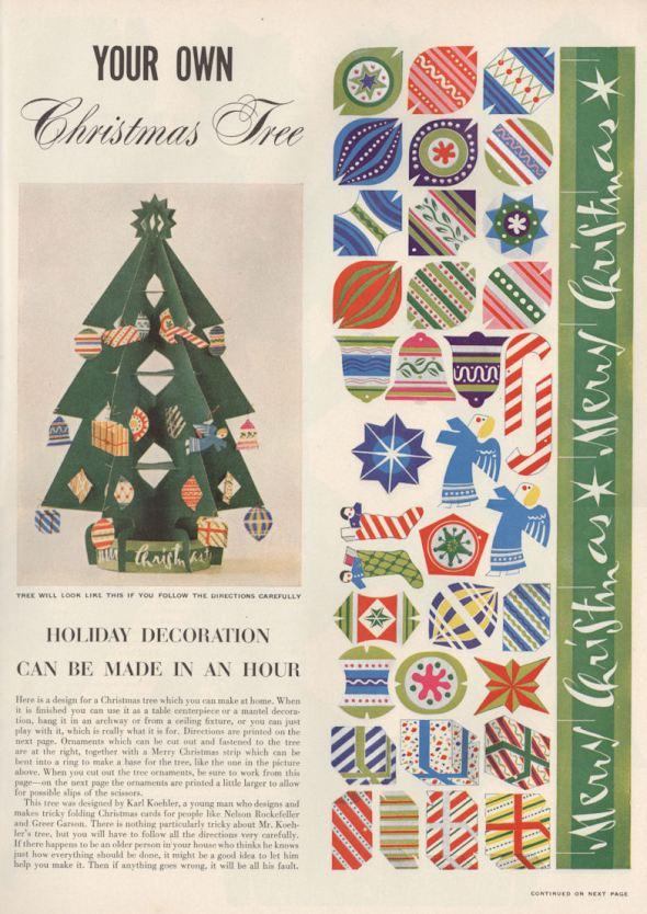 Life Dec 50 Xmas Tree Craft BLOG