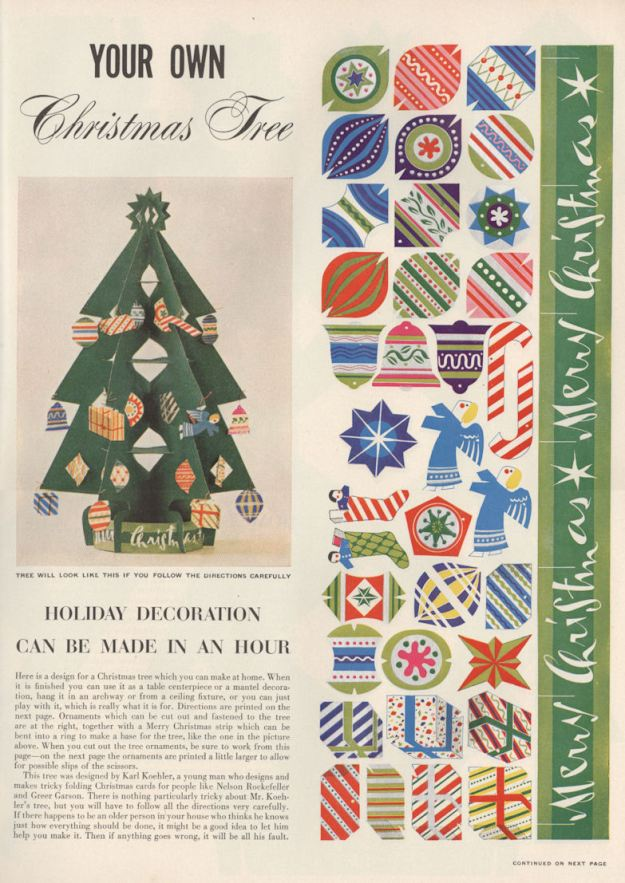 Life Dec 50 Xmas Tree Craft BLOG