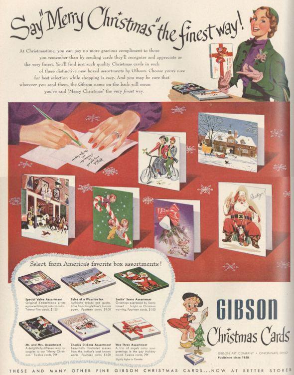 Life Nov 51 Gibson Xmas Cards BLOG