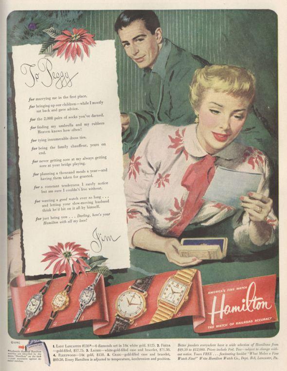 Life Nov 51 Hamilton Watch To Peggy BLOG