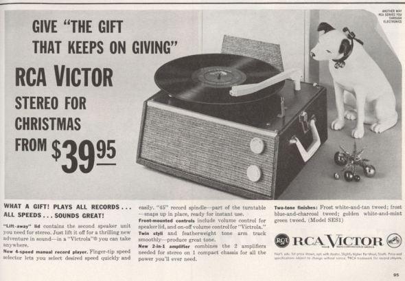 Life Nov 59 RCA Nipper Record Player BLOG