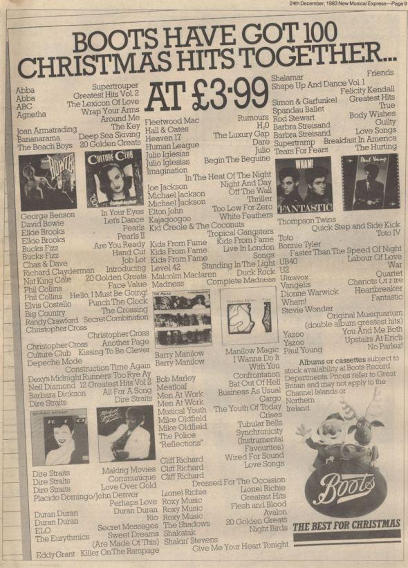 NME Dec 1983 Boots BLOG