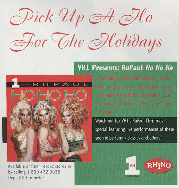 Out DecJan 98 RuPaul Ho Ho Ho BLOG