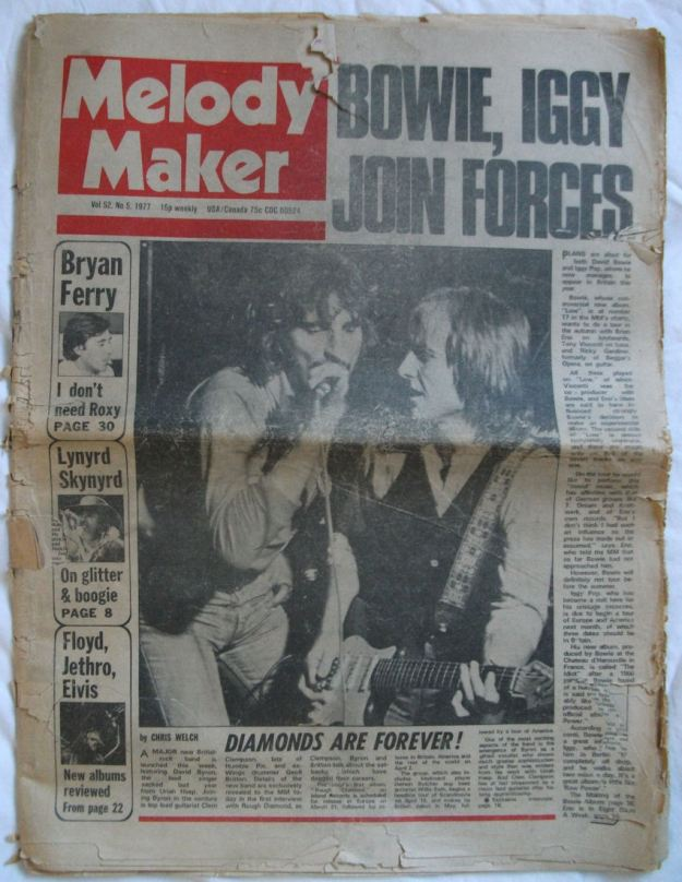MM Jan 29 1977 Bowie Iggy Join Forces full cover BLOG