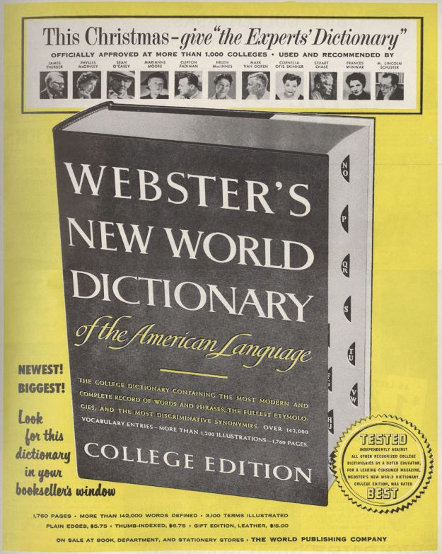 BLOG WEBSTER NEW WORK DICTIONARY