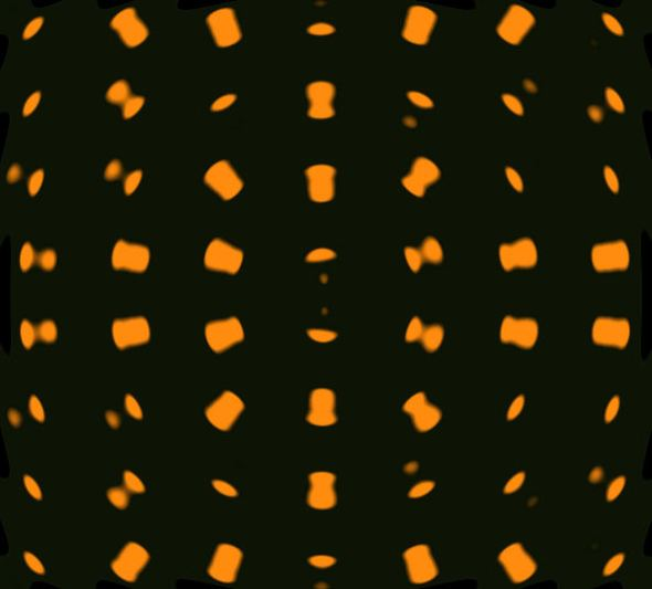 Danceteria black with orange dots BLURRED