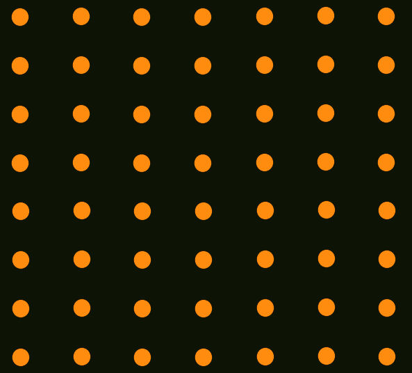 Danceteria black with orange dots