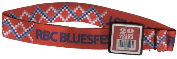 Ottawa Bluesfest 2014 Blondie wristband variousartists