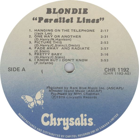 LABEL BLOG Blondie Parallel Lines variousartists