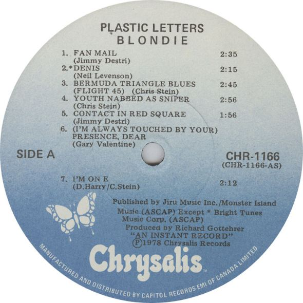 LABEL BLOG Blondie Plastic Letters  variousartists