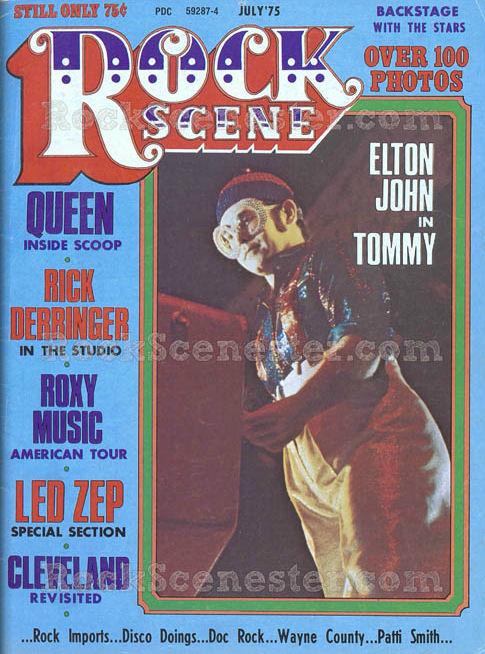 ROCK SCENE Cover Elton in Tommy July 75