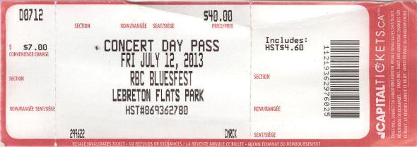 Waterboys Ticket Fri July 12 Day Pass