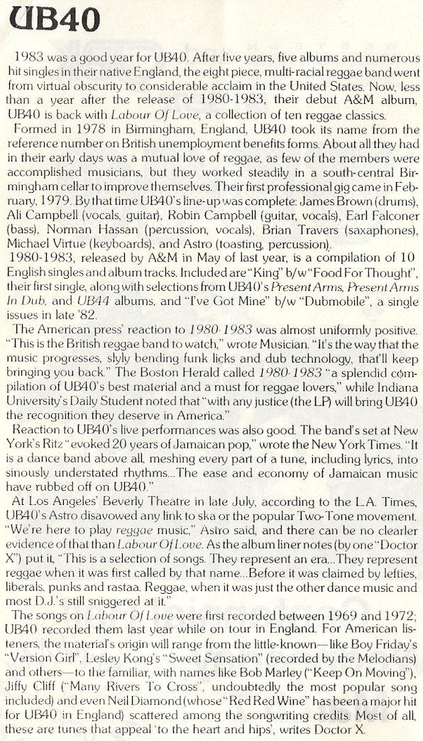 BLOG UB40 March 7 1984 CentHall Program Pg2