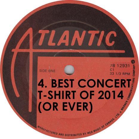 VA Best Concert TShirt of 2014 Beck Atlantic Records Label