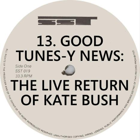 VA Good Tunes News Live Return of Kate Bush SST Records Label