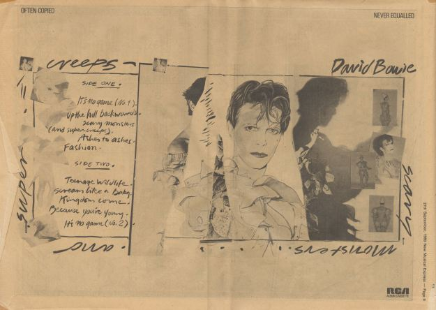 Scary Monsters Ad NME Sept 27 80